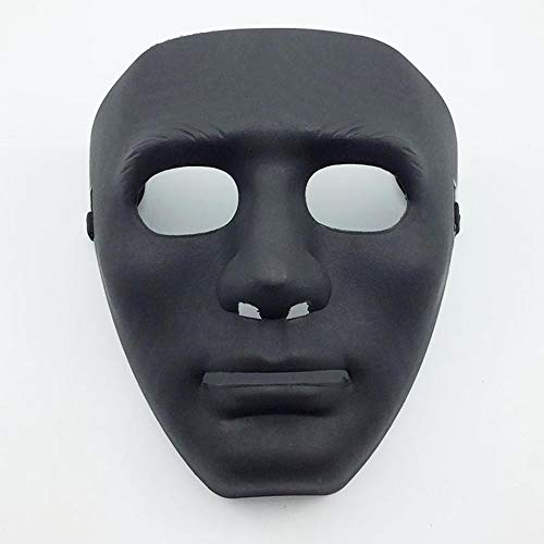 LW Full Face Mask, Stage Party Dance Halloween Mask for Hip Hop Dance Opera (Black)