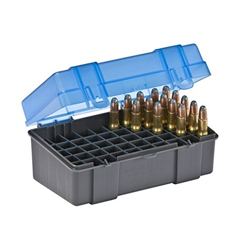 Plano 50 Round Rifle Ammo Case with Slip Cover, Small ()