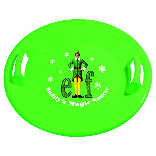 Slippery Racer Buddy The Elf Downhill Pro Saucer Snow Sled, Green (Buddy Snow)
