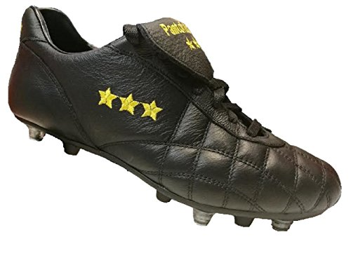 Pantofola In Da pc2384 D'oro Misto Nero 46 Linguetta Fondo Duca Calcio Lunga Scarpa Vitello Del 07n rwxrfq1EY