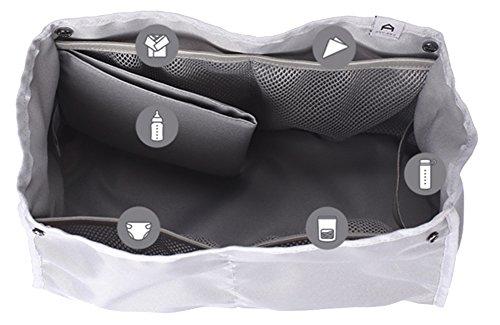 anuanu cambiador de bebé (multiusos bolsa de pañales Ash grey Talla:RANI negro
