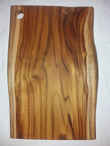 TEAK WOOD CUTTING BOARD FOR KITCHEN luxury-one solid piece-extra durable-5 years guarantee-natural live edge.