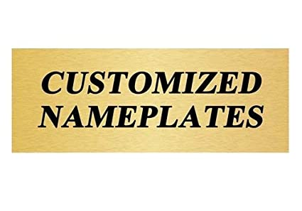 amazon com custom trophy plate name plate with 3 lines of custom