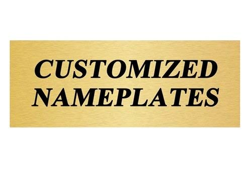 image relating to Printable Trophy Labels referred to as Customized Trophy Plate / Track record Plate With 3 Strains of Tailor made Words and phrases