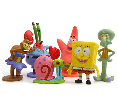 - TA BEST 8pcs Spongebob Figures, Cake Toppers, Action Figure Set, Squidward Plankton Patrick Sandy Gary Toy Collections