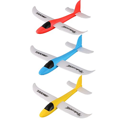 Epp Durability Airplane (Wenasi 3 PCS Throwing Glider Inertia Plane Foam Aircraft Toys Hand Launch Airplane Model Outdoor Sports Toys for Kids Children Boy Girl as Gift)
