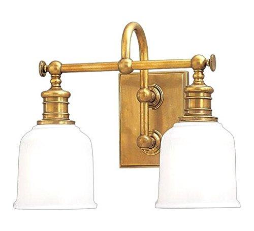 Aged Brass Keswick 2 Light Bathroom Vanity Light