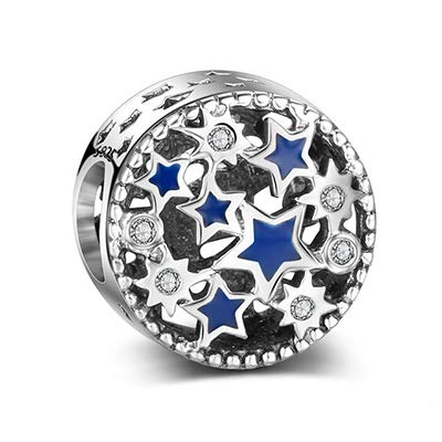 Calvas Summer New 925 Sterling Silver Bead Beautiful Round Shape Charm Fit Original Women DKG Bracelet Bangle DIY Jewelry Color: 29