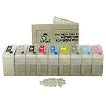 InkOwl® - Empty Refillable Cartridge Set for use in EPSON Stylus Photo R3000 printers (T1571-T1579) #157 ink