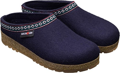 Pantofole Haflinger Mittelblau Uomo Blu 711001 OOwq57rBxT