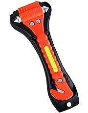 CoWalkers Martillo de seguridad para el automóvil, herramienta de escape de emergencia con cortacircuitos y cortador de cinturón de seguridad, kit de supervivencia que le salvará la vida
