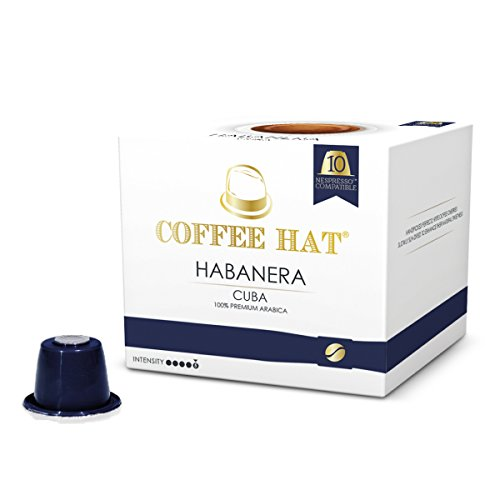 COFFEE HAT Habanera from CUBA - 20 Nespresso Compatible Coffee Capsules