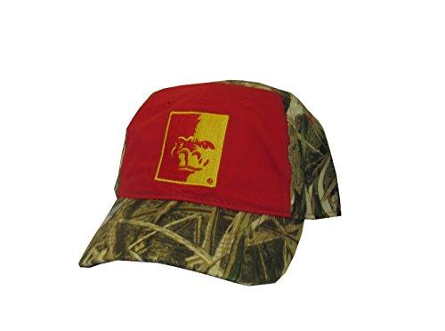 State Cap Pittsburg (Rob'sTees Pittsburg State Gorillas Woodland Camo Mens College Team Velcro Back Cap Adjustable Hat Cap)