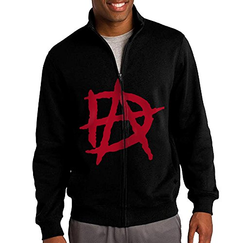 [ILKU Men's Dean Wrestler Ambrose Full Zip Hooded Sweatshirt Jacket Black Size M] (Randy Orton Costume)