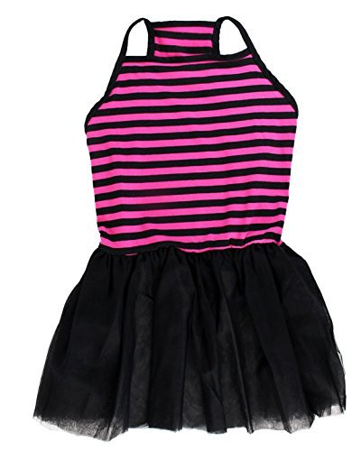 Midlee Pink & Black Stripe Tutu Large Dog Dress (XX-Large)