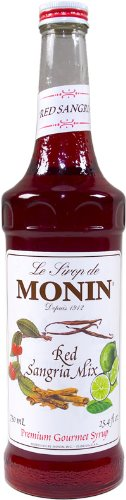 Monin Flavored Syrup, Red Sangria Mix,750 ml bottle ()