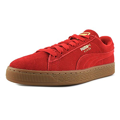 PUMA Women's Suede Classic Sneaker Barbados Cherry- Gold