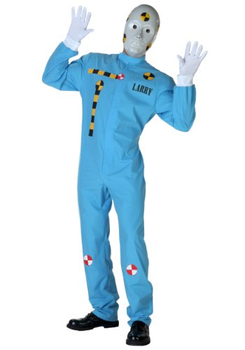 Fun Costumes Mens Crash Test Dummy Costume (Crash Dummy Costumes)