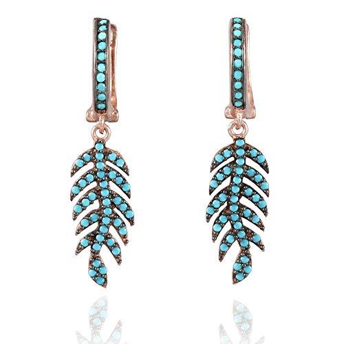 Buy sterling turquoise ear rings