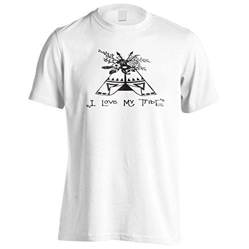 Ich Liebe Meinen Stamm Schwarz Herren T-Shirt k737m