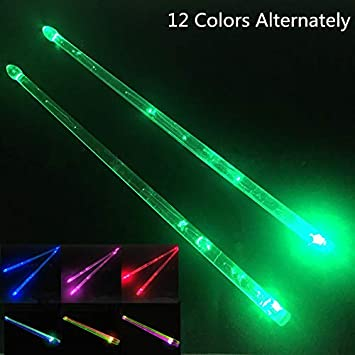 Yipaisi Light Up Drumsticks 12 Color Changing Glow In Amazon In Electronics