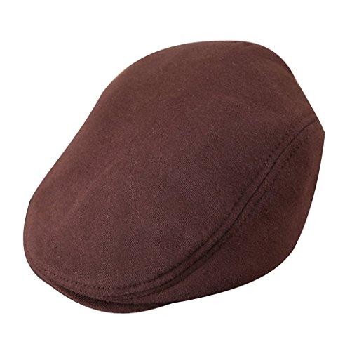 50 52 cotone caffè Acvip colori cm testa per 5 bambina piatto Berretto cappello rotonda Berretto znxwqvHv