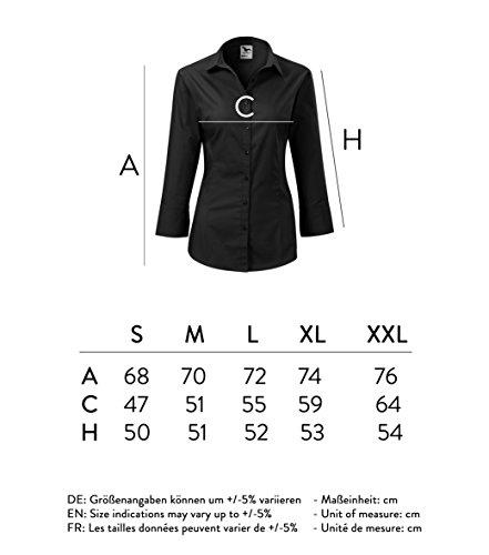 OwnDesigner by Adler Blusa da donna 3/4 – taglio classico ed elegante – Colore : Nero – Taglia : XL