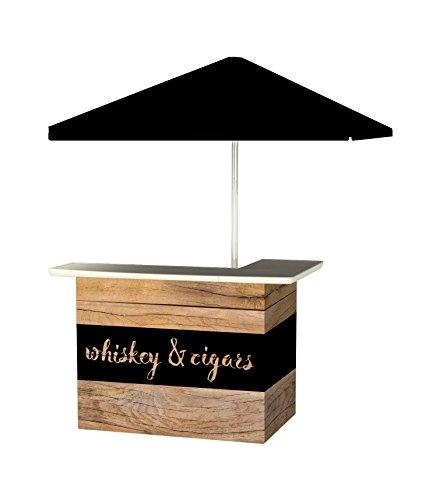 Best of Times Portable Standard Bar Table, Whiskey & Cigars Bar - Standard Portable Bar