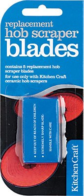 Kitchen Craft Stainless Steel Replacement Blades for Scraper- pack of five