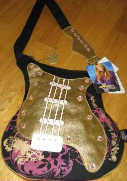 Hannah MOntana Guitar Bag Purse Pocketbook Large Black