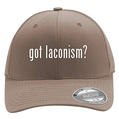 got Laconism? - Men's Flexfit Baseball Cap Hat, Khaki, Large/X-Large