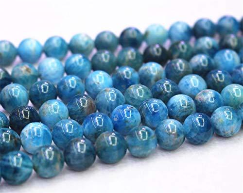 Wholesale Blue Apatite Beads,6mm 8mm 10mm 12mm Blue Apatite Smooth and Round Beads.Apatite Beads Wholesale. Wholesale Beads (Blue Apatite Beads(A), 6mm,63pcs) ()