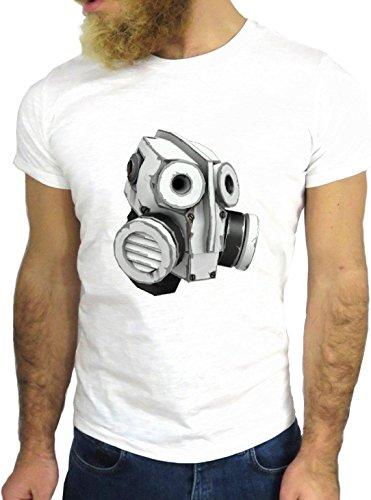T SHIRT JODE Z1980 ROBOT MACHINE FUNNY MASK AMERICA COOL FASHION NICE GGG24 BIANCA - WHITE S