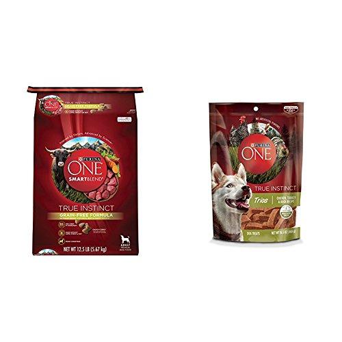 Purina ONE ONE True Instinct Dry Dog Food and Treat Bundle