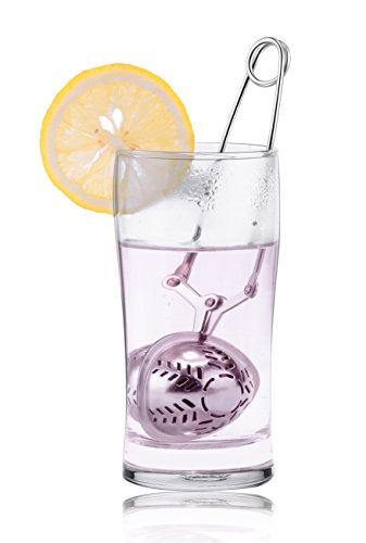Loose Leaf Tea Infuser By GLOUE - 304 Stainless Steel Tea Ball Strainer - Non-Mesh Tea Strainer - Tea interval Diffuser for Tea - Stainless Steel Tea Spoon