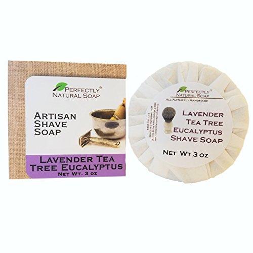 Lavender Eucalyptus Tea Tree All Natural Artisan Shave Soap