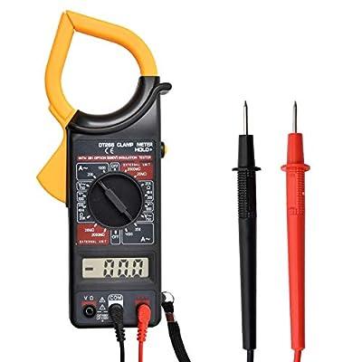Multimeter Digital Clamp Meter AC/DC Voltmeter Current Resistance Electrical Tester ?Battery included?