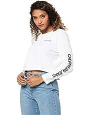 Calvin Klein Jeans Women's Institutional Logo Cropped Tee