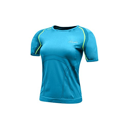 Dare2B Womens/Ladies Mollify Wicking Quick Drying Active T Shirt Blue Jewel