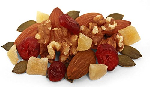 Power Up Trail Mix 100% Natural 8 Snack Bags Protein Packed, Antioxidant Mix, Almond Cranberry Crunch, Mega Omega by Gourmet Nut (Image #4)