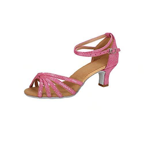 Sala Ballo Tacco Donna 7cm da 5cm Rosa Tacco Latino Scarpe Standard 5cm da Scuro Ballo TRIWORIAE qxU0wBXSX