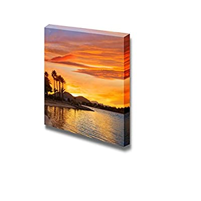 Canvas Prints Wall Art - Alcudia Majorca at Sunset on The Beach Mallorca Balearic Islands - 24