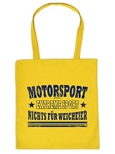 Coole Sporttasche Motorsport Motiv : Motorsport Extreme Sport .. Baumwolltasche - Farbe: gelb