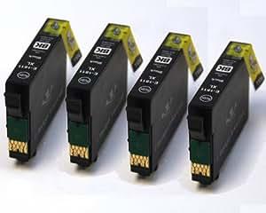 BadgerInks-Cartuchos de tinta para impresora Epson Expression Home, XP202, negra con chip.