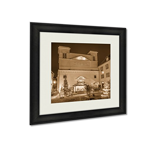 Ashley Framed Prints Roman Catholic Cathedral Of St Peter And St Pauls In Cristmas Decorations, Wall Art Home Decor, Sepia, 34x34 (frame size), AG5541673 by Ashley Framed Prints