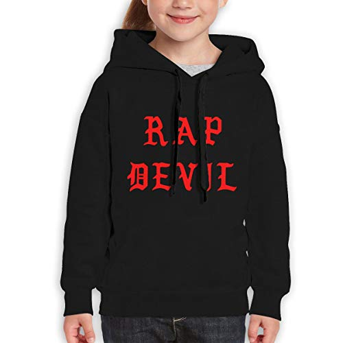 MUPTQWIU Youth Halloween Dark Red Gothic Rap Devil Funny Travel Black Hoodie 30 ()