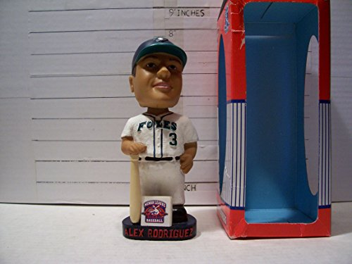 2001 ALEX RODRIGUEZ MINOR LEAGUE EDITION APPLETON FOXES 1ST ROOKIE BOBBLEHEAD