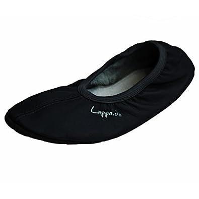 Lappa.de - Zapatillas de gimnasia de Piel para mujer Negro negro aYArgam