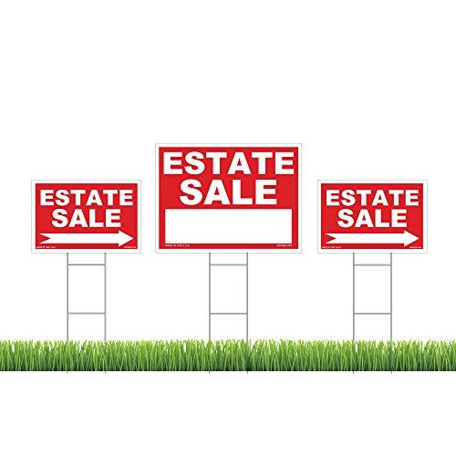 Estate Marker Address Sign - Estate Sale Sign Kit, (1) 18
