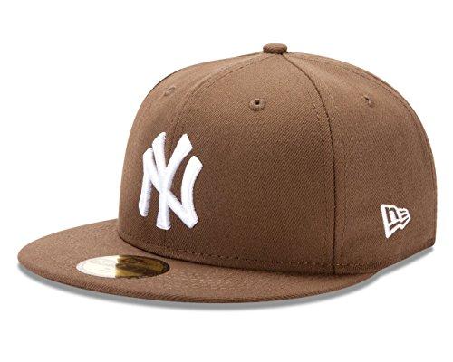 New Era New York Yankees MLB Basic Logo White 59FIFTY Cap Walnut